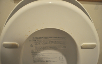 水垢や尿石で汚れた便座