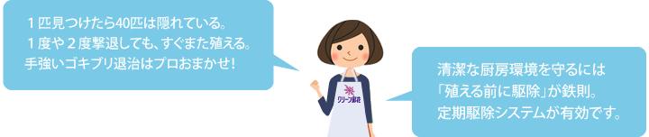 ゴキブリ退治はプロへおまかせ!!